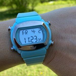 Adidas digital sports watch mint green unisex